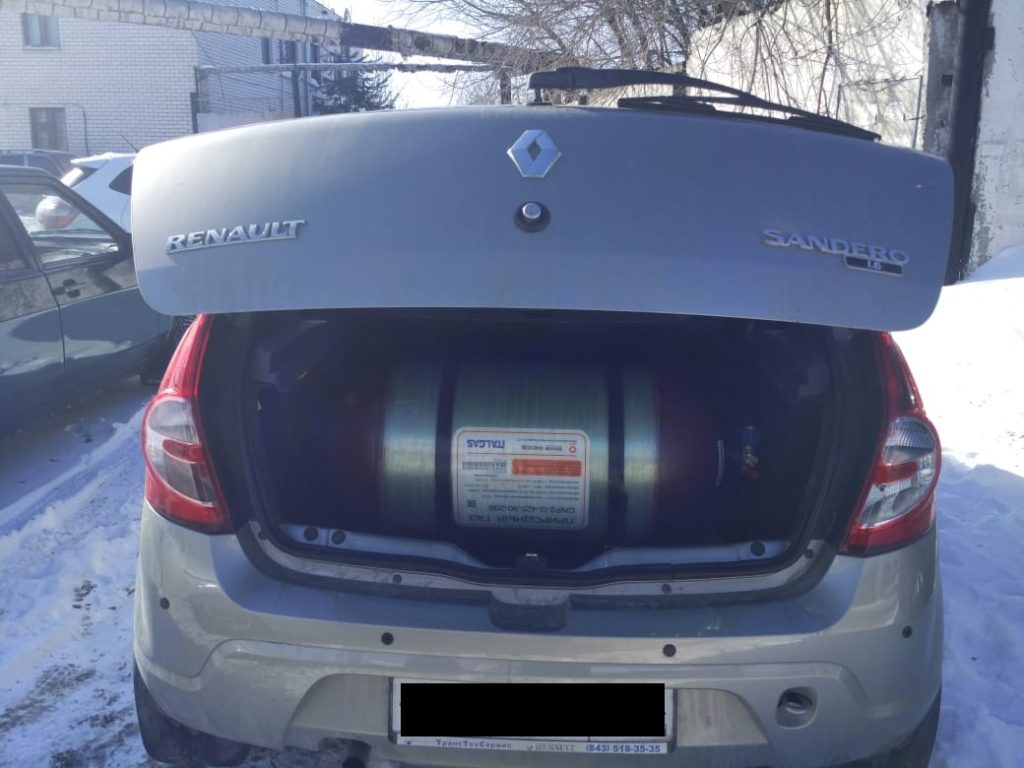 Установка ГБО Метан на Renault Sandero
