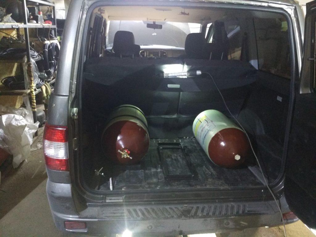 Установка ГБО Метан на УАЗ Патриот