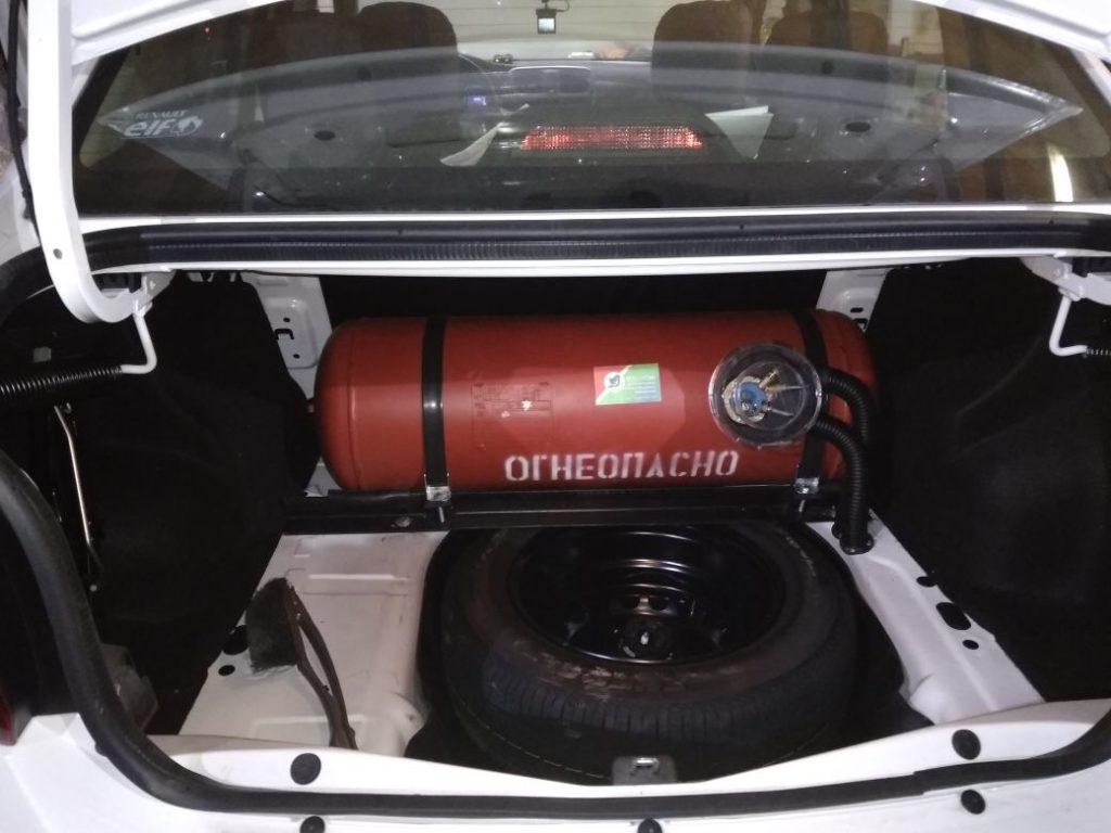 Установка ГБО Пропан на Renault Logan