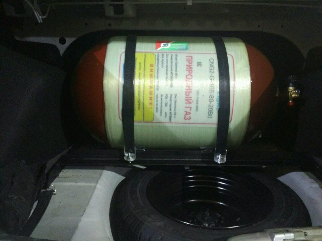 Установка ГБО Метан на Lada Granta