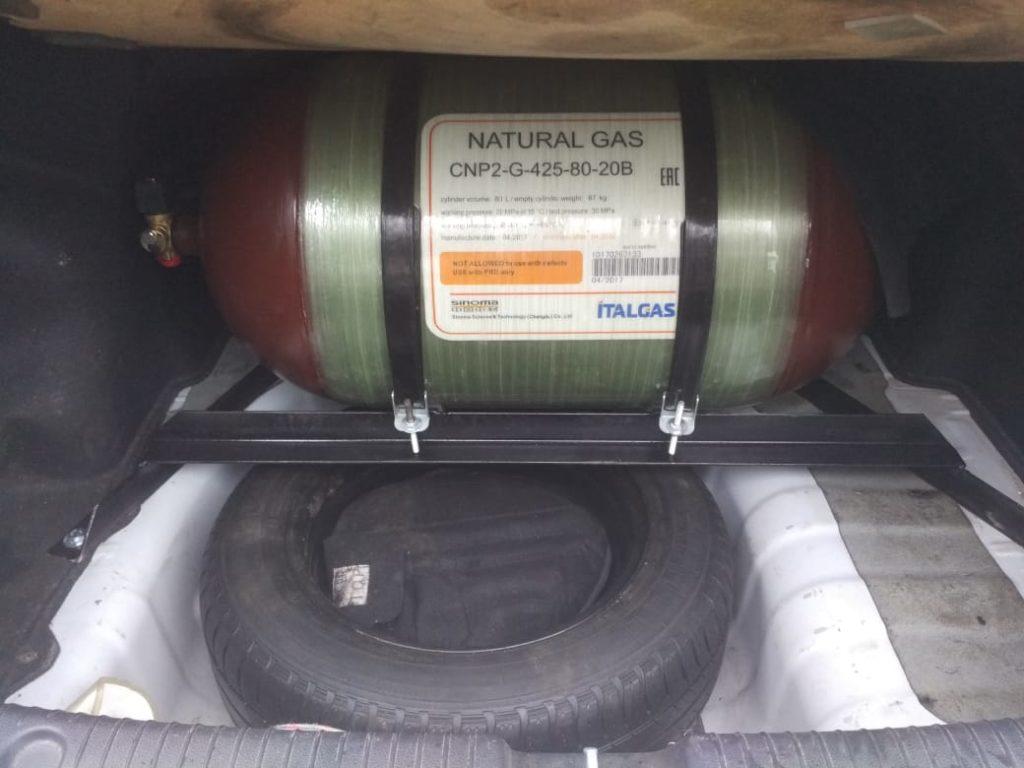 Установка ГБО Метан на Kiа Rio