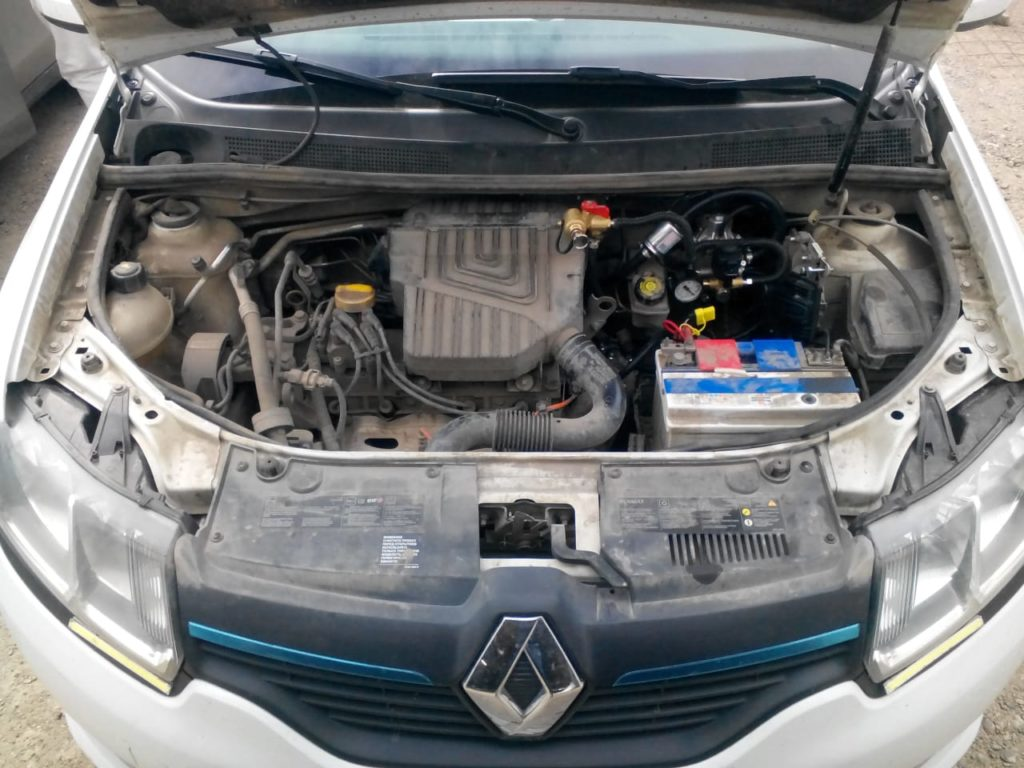Установка ГБО Метан на Renault Logan