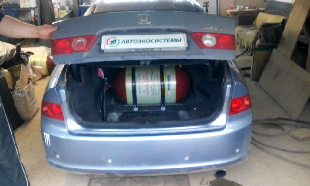 Установка ГБО Метан на Honda Accord